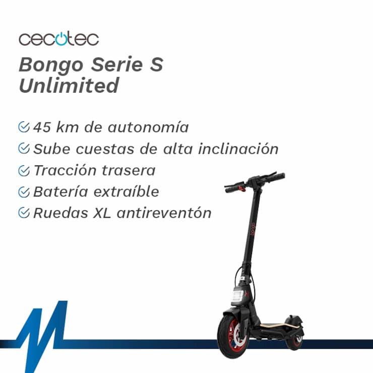 Características y ventajas del patinete Cecotec Bongo Serie S Unlimited