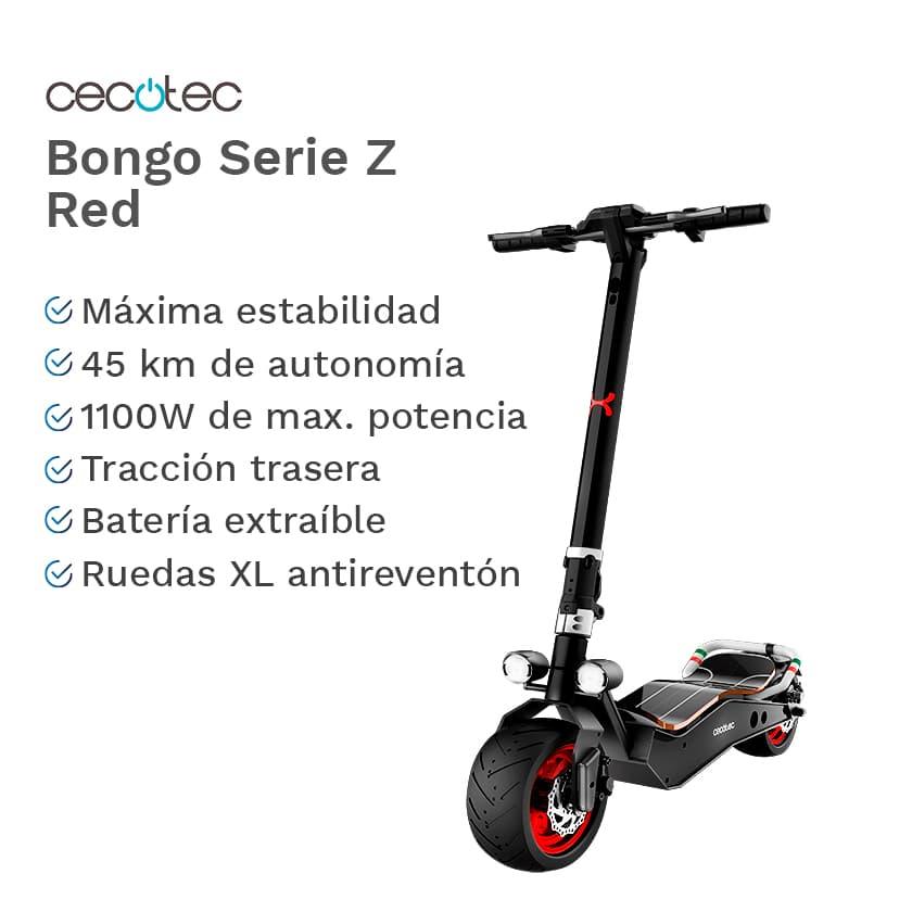 Características y ventajas del patinete Cecotec Bongo Serie Z Red Connected